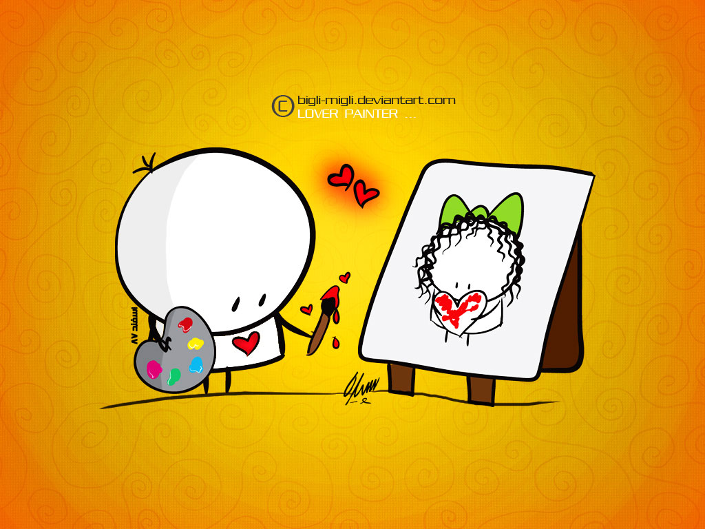 Lover Painter _ Wallpaper by ~BIGLI-MIGLI on deviantART