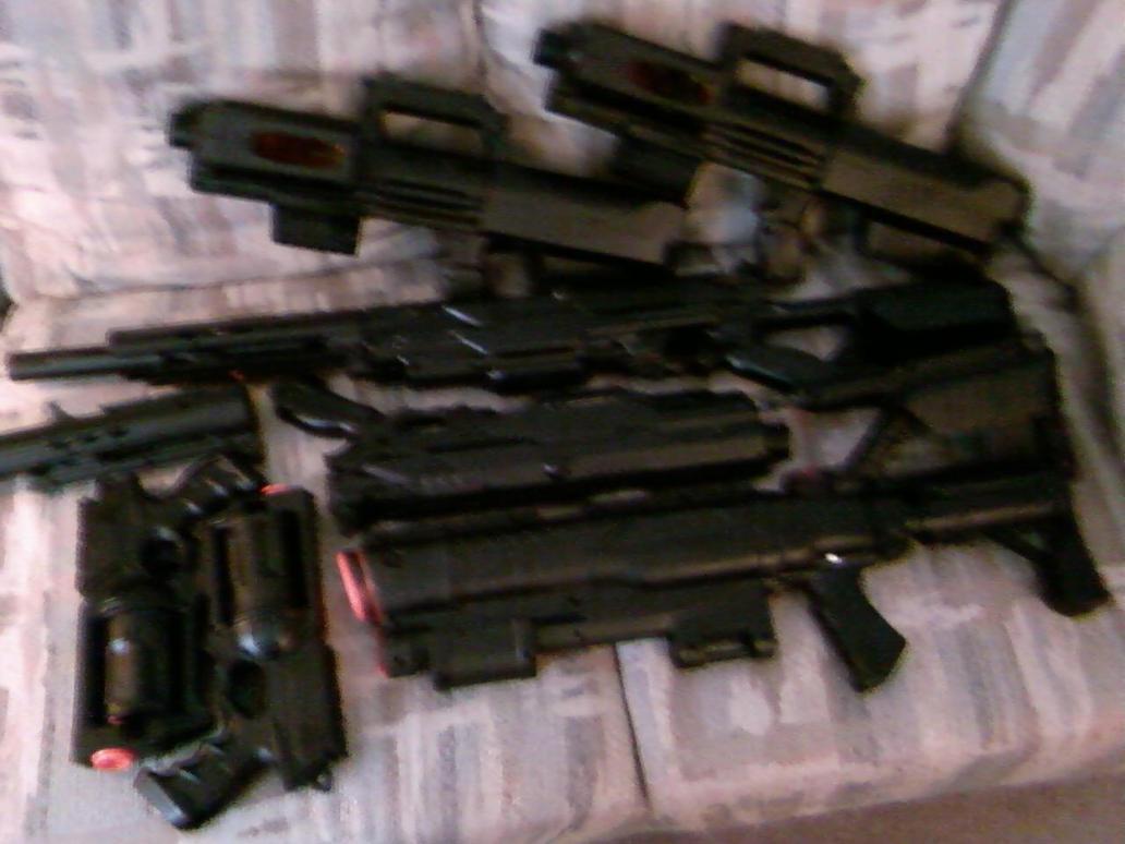 Nerf guns in progress by DrDisco777 ...