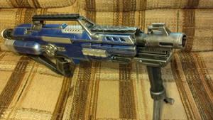 Nerf Stampede Rifle Sci-fi Blue/Chrome Design