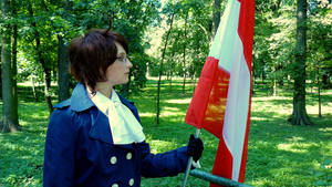 Austria cosplay flag