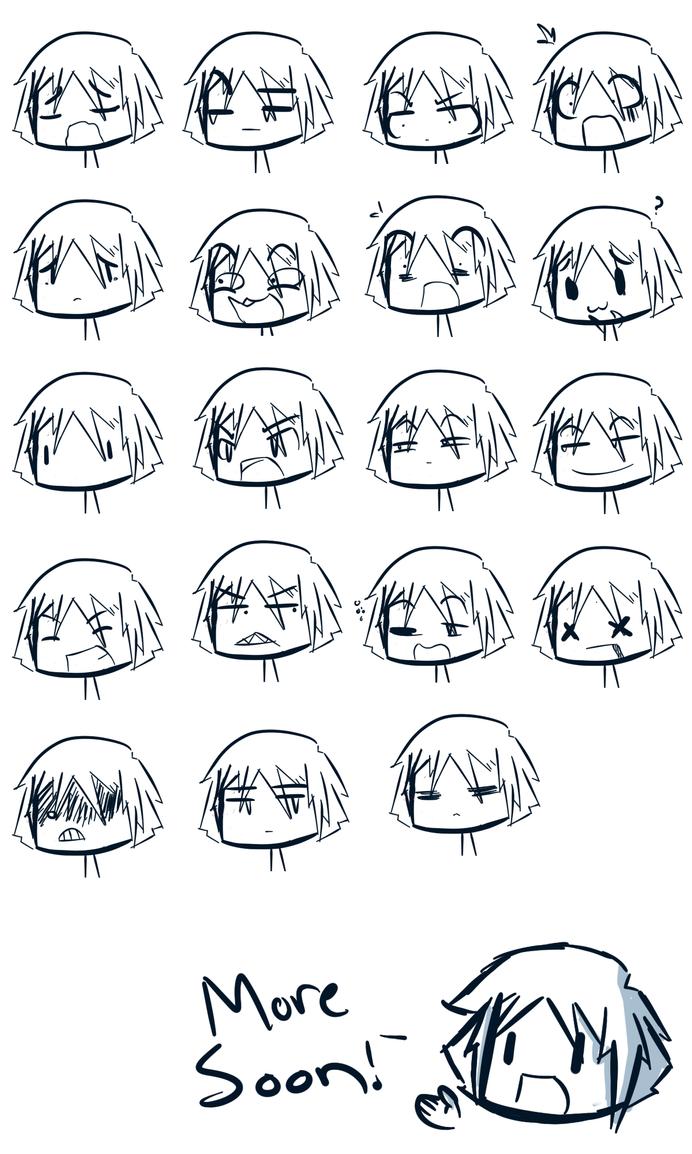 Expression Sheet one by WaywardDoodlesChibi Expressions