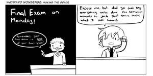 Wayward Nonsense: Making the Grade