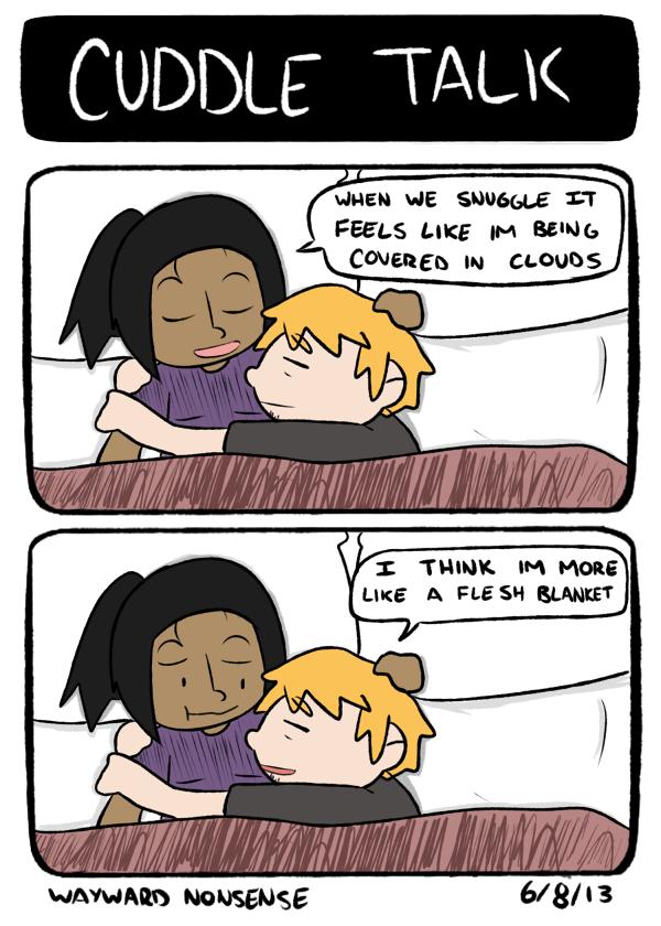 Cuddle Talk nonsense by WaywardDoodles on DeviantArt