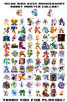 Mega Man 25th Anniversary Robot Master Collab