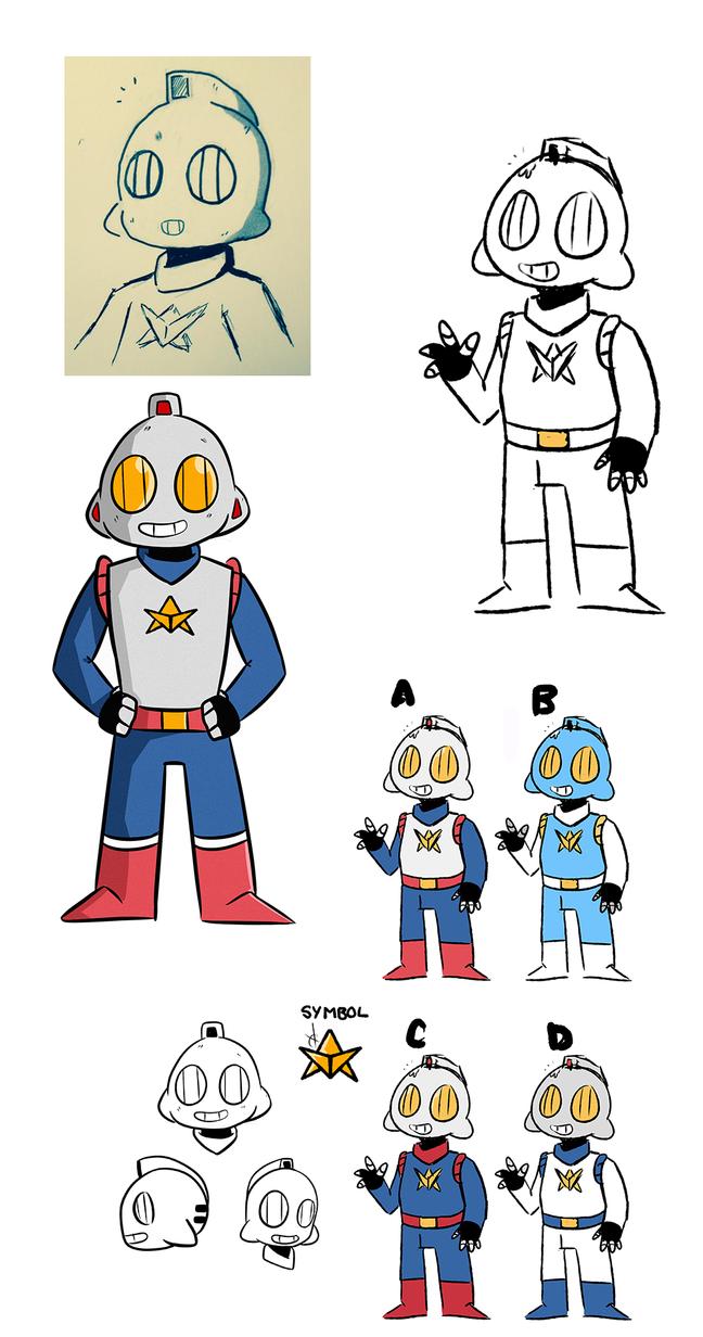 Robo Doodle Man Hero by WaywardDoodles