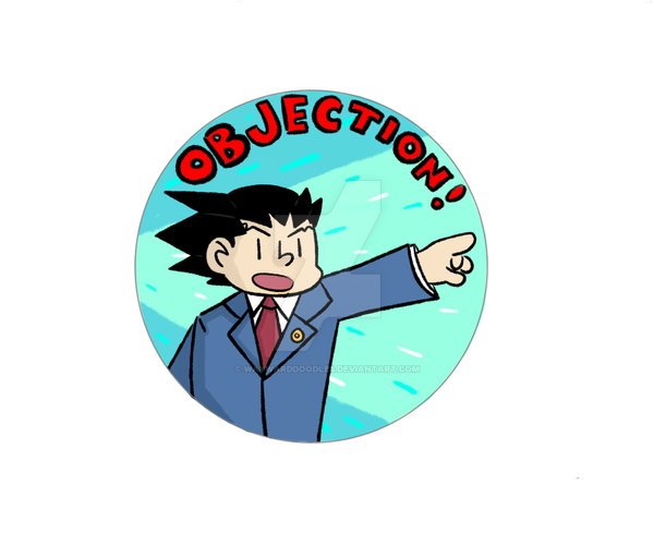 Ace Attorney Button by WaywardDoodles