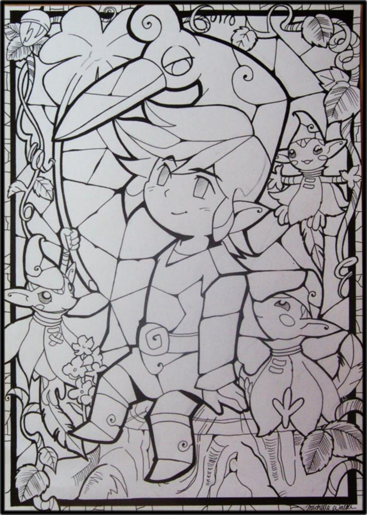 minish cap coloring pages - photo#10
