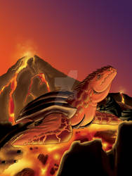 Lava Turtle by Unibomber703