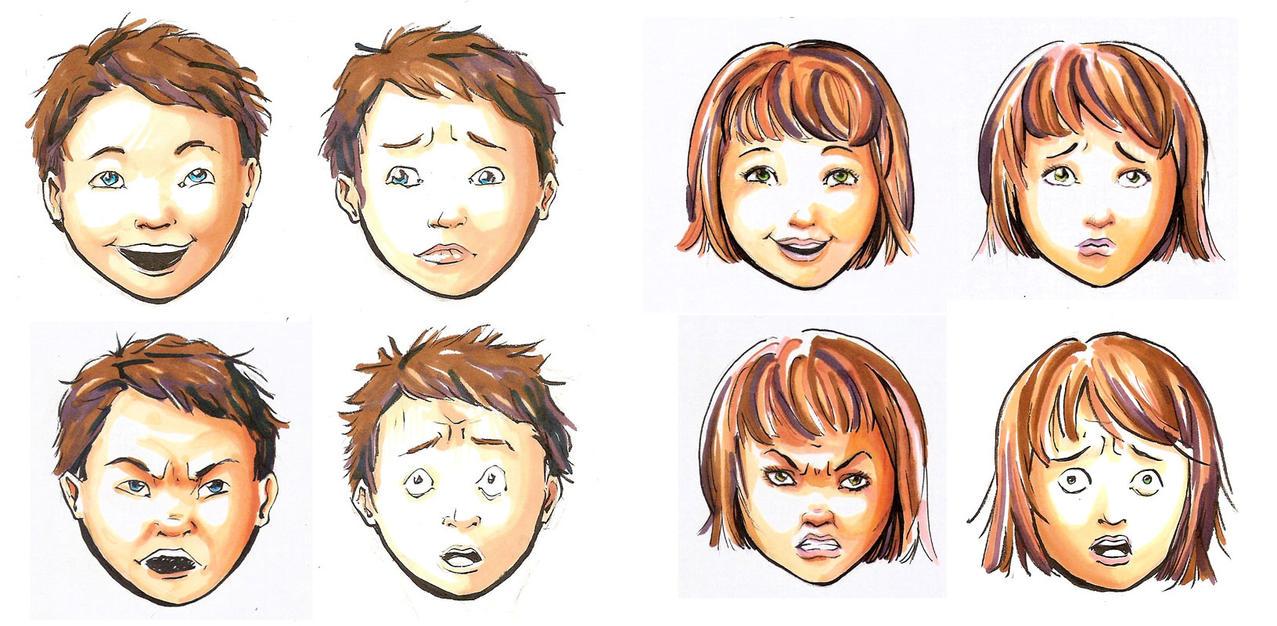 Deaf children work 1 emotions by syalice