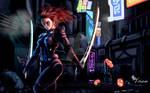Twin Blades (modify) w/background