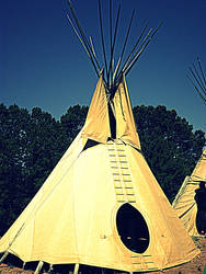 The white girl who built a teepee