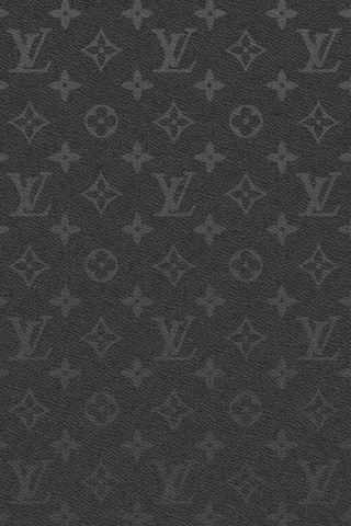 Black Leather LV - iPhone