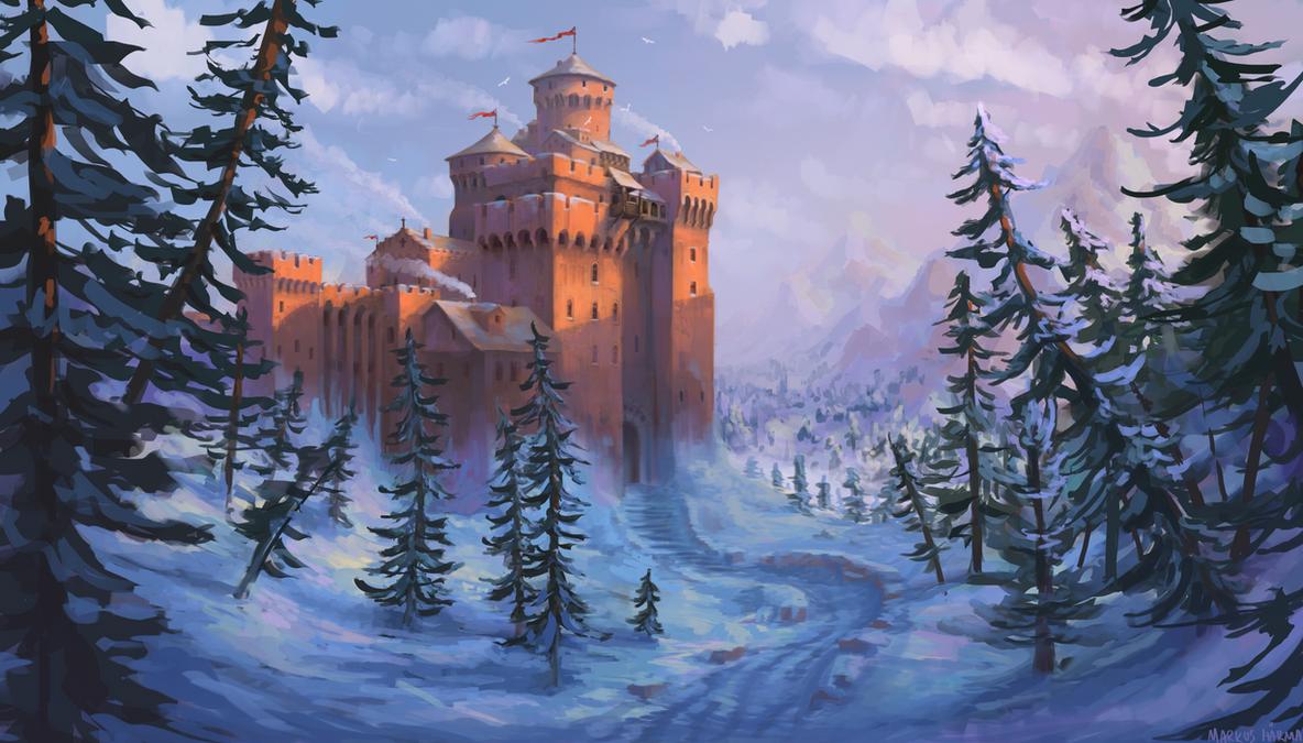 orange castle by snaku6763