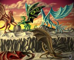 Dragonesses rock by Zoroha