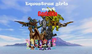 Equestria Girls Meet Godzilla Poster