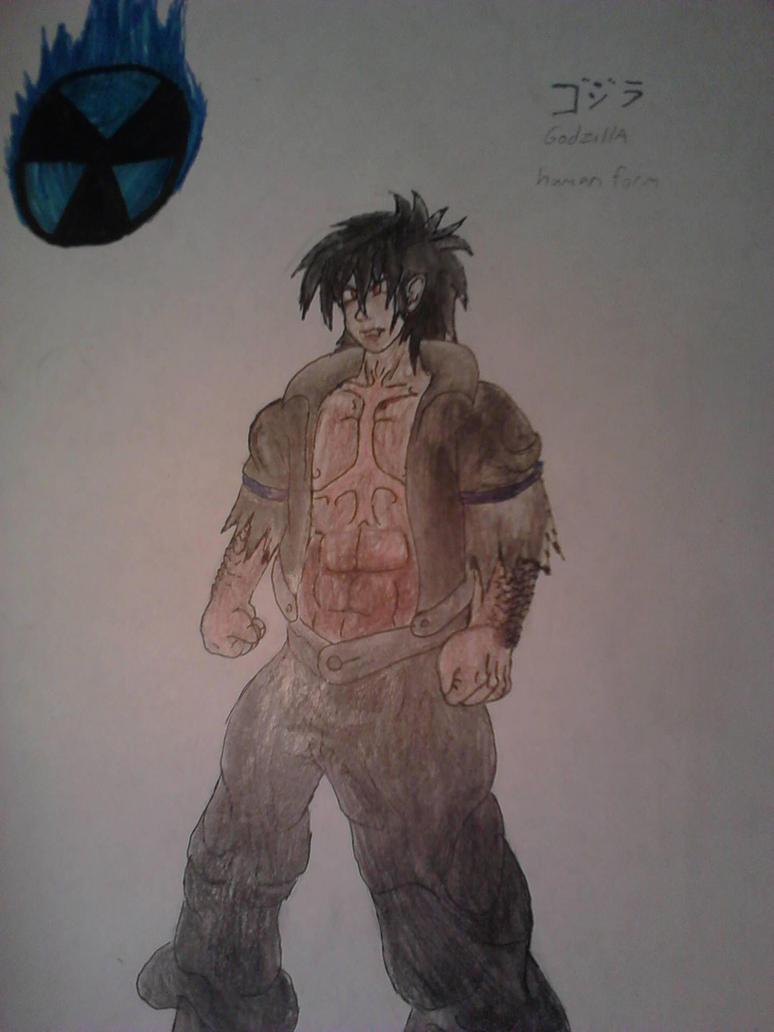 Godzilla Human form by redrangerki on DeviantArt