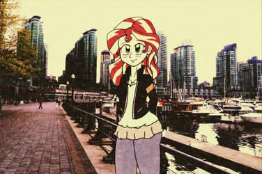 Sunset Shimmer 80s Anime Style by redrangerki