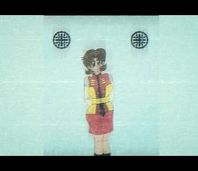 Miki Saegusa 80s Anime Style by redrangerki