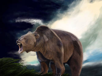 Roaring Bear by mrPaulDure