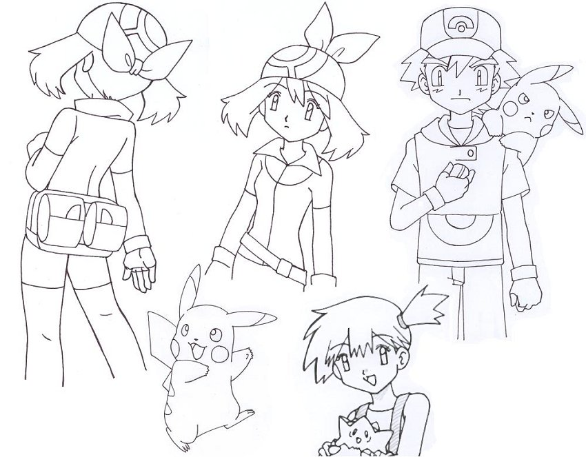 misty coloring pages - pokemon may coloring pages pictures to pin on pinterest