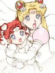 Trouble? -Sailor Moon and Chibi Chibi Moon-