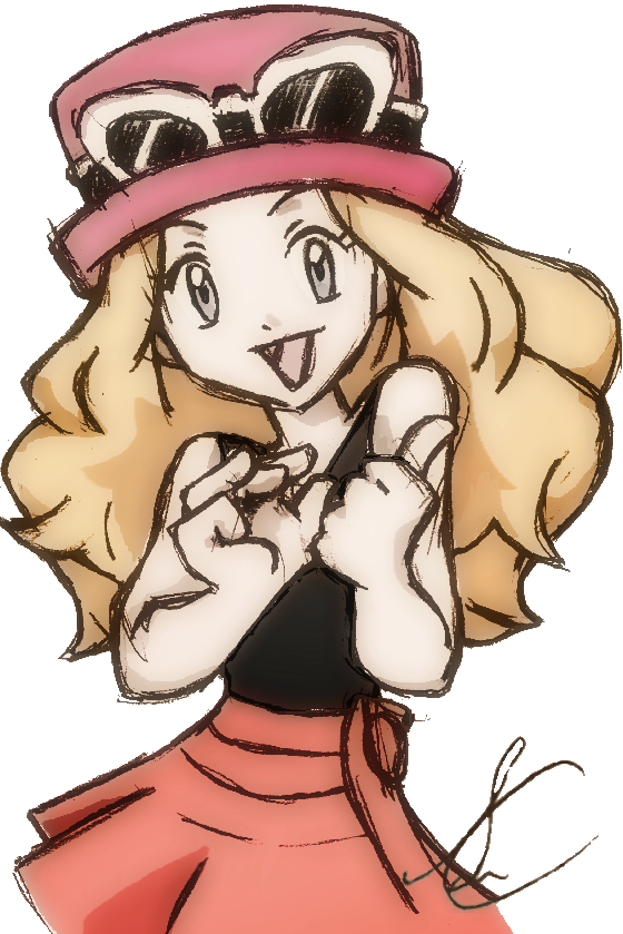 Serena - Ash's new companion? [Pokemon X and Y] by SidselC