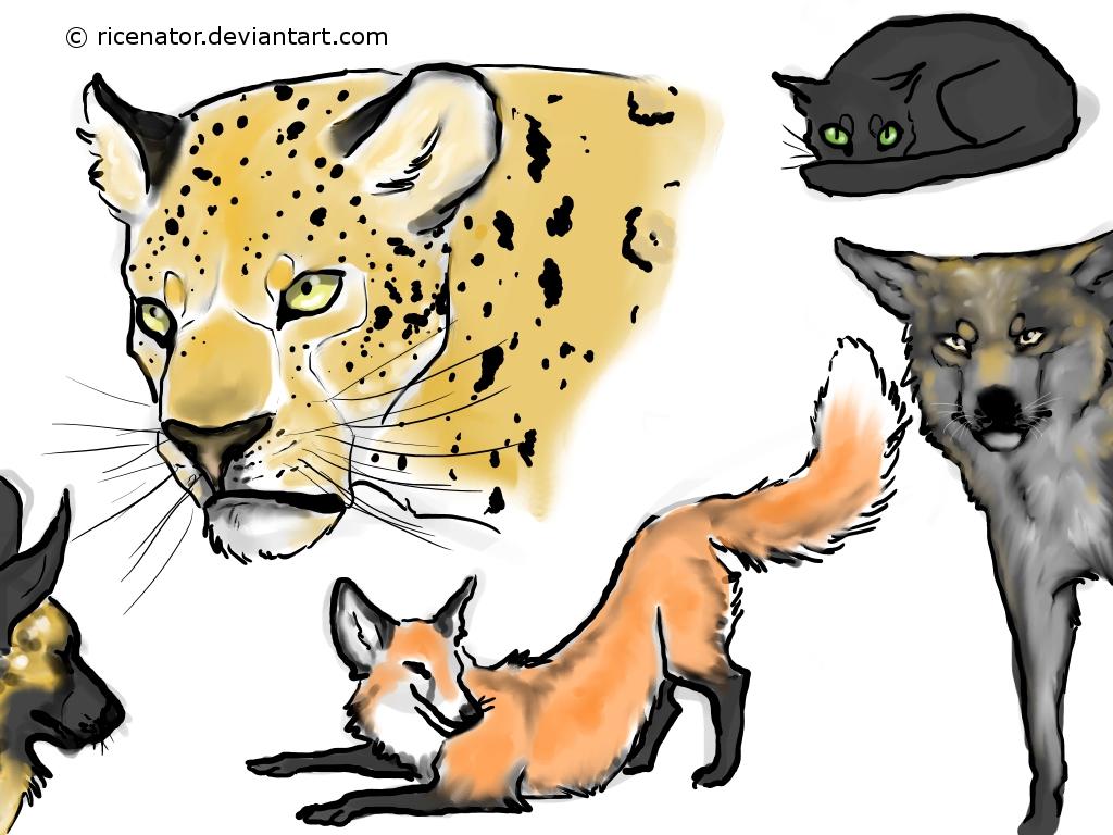 doodle art animals