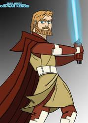 Obi-Wan - Clone Wars Coloured