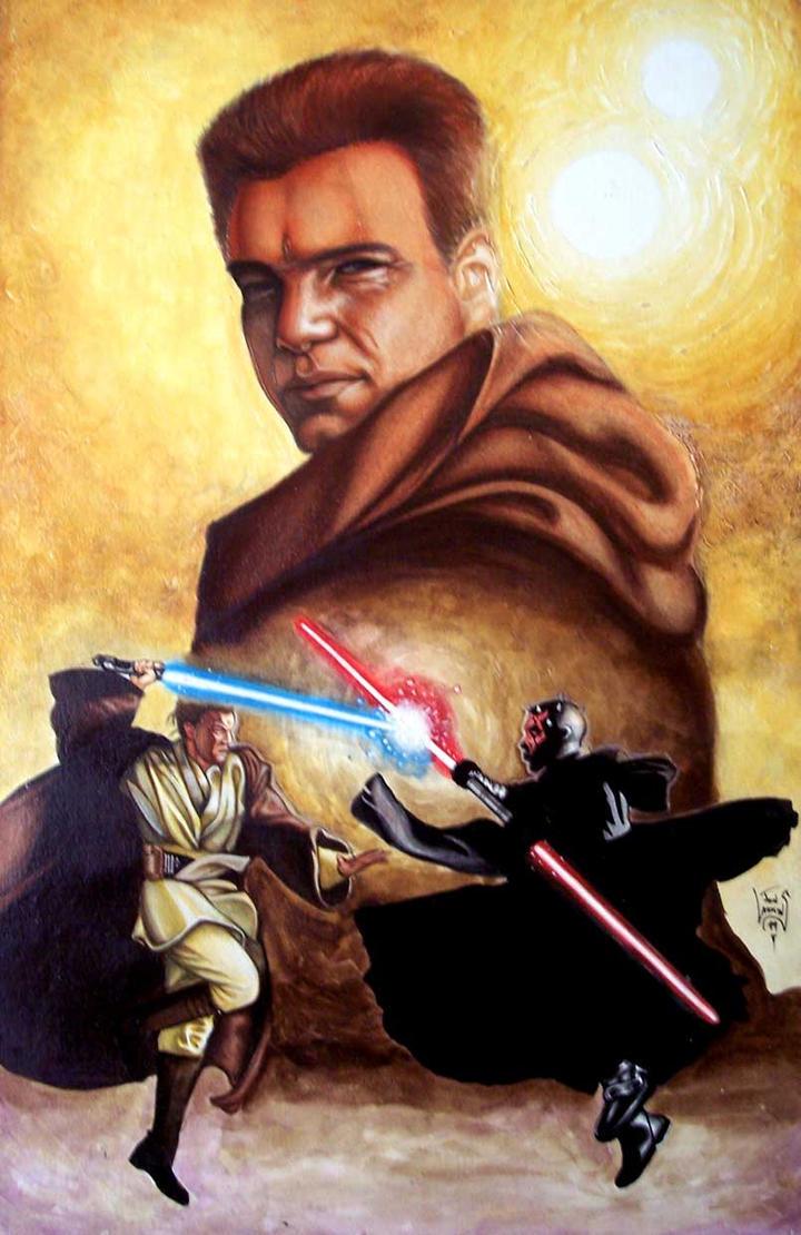 Darth Maul VS Obi Wan by Obi-Wan-Club