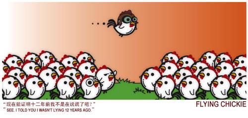 Flying Chickie by yolks