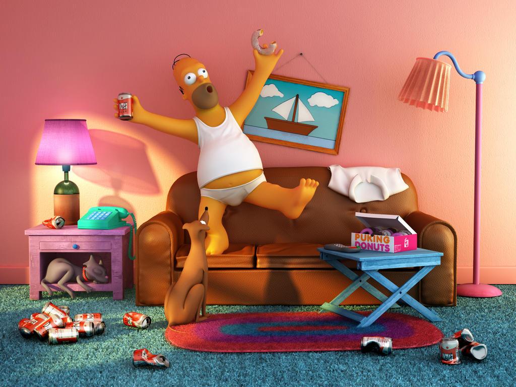 Homer by d3m0ni0