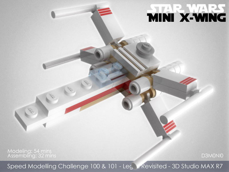 Lego Mini X-Wing by d3m0ni0