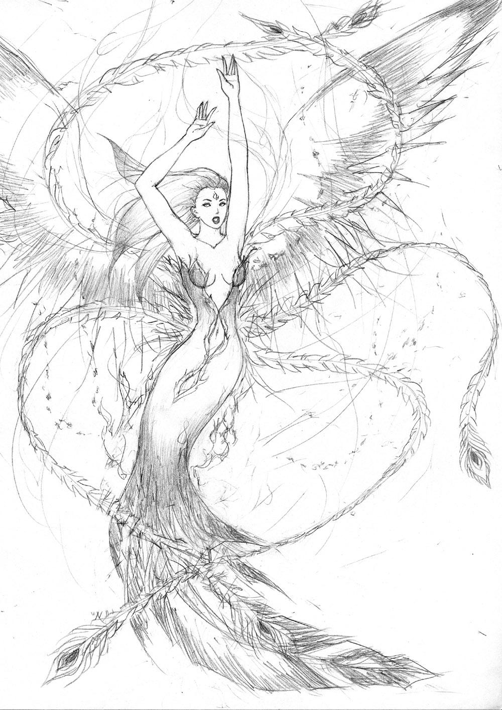phoenix rising coloring pages