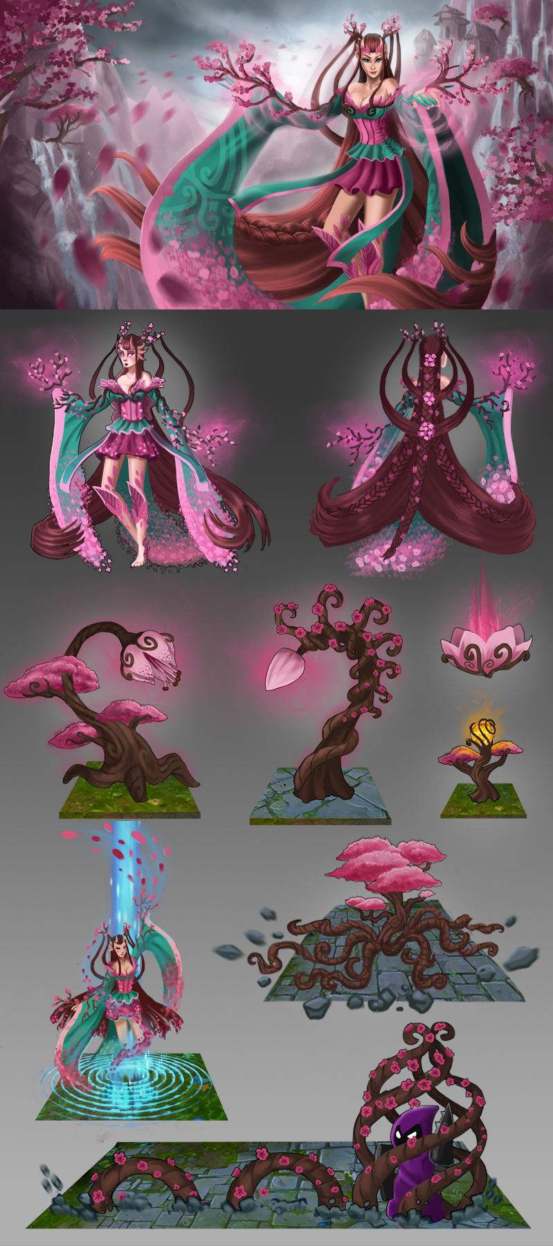 Another Cherry Blossom... Zyra League Of Legends