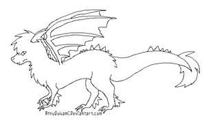 +Free Dragon Lineart+ by SpookiePrincess