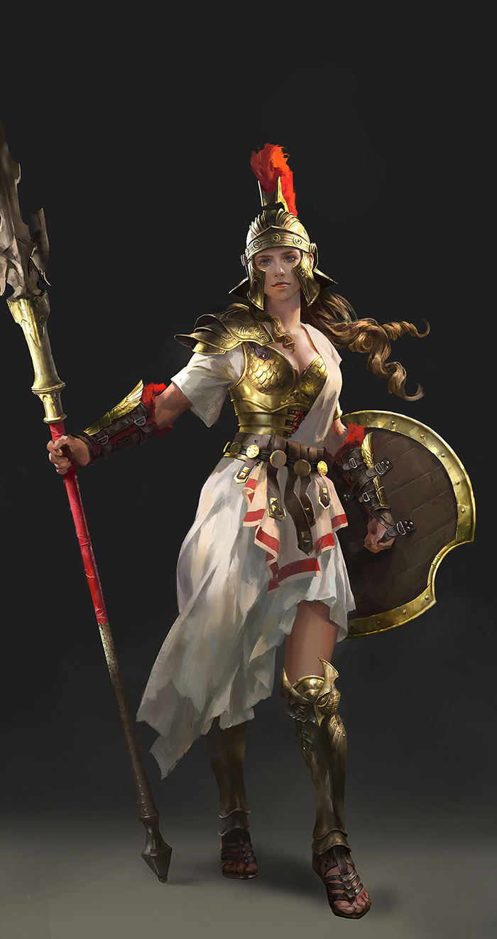 Character Design Challenge Gladiator : Character design athena by luulala on deviantart