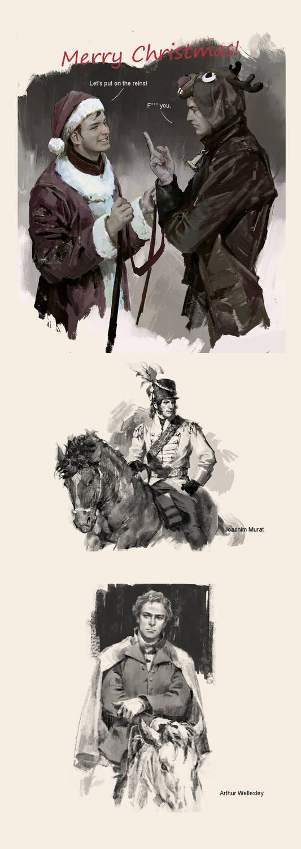 Napoleonic Wars fan arts and Merry Christmas!