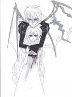 Ryu Kuroishi OC and Ahiru by Akiko-Himura