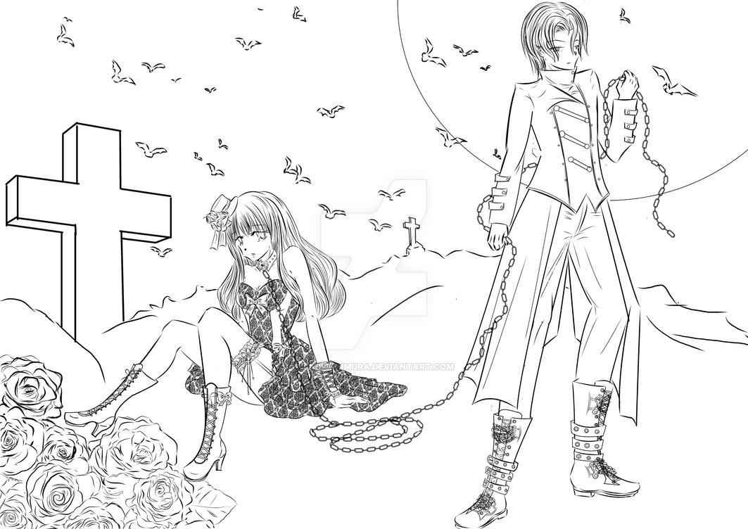 Vampires LineArt by Akiko-Himura