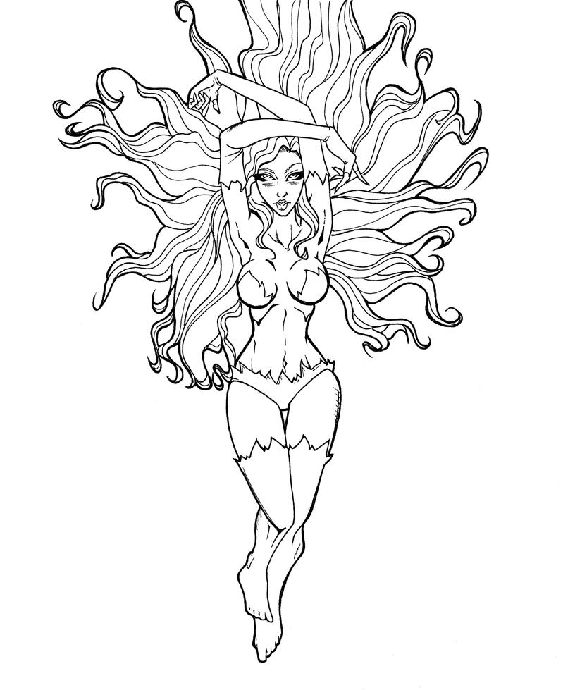poison ivy free coloring pages