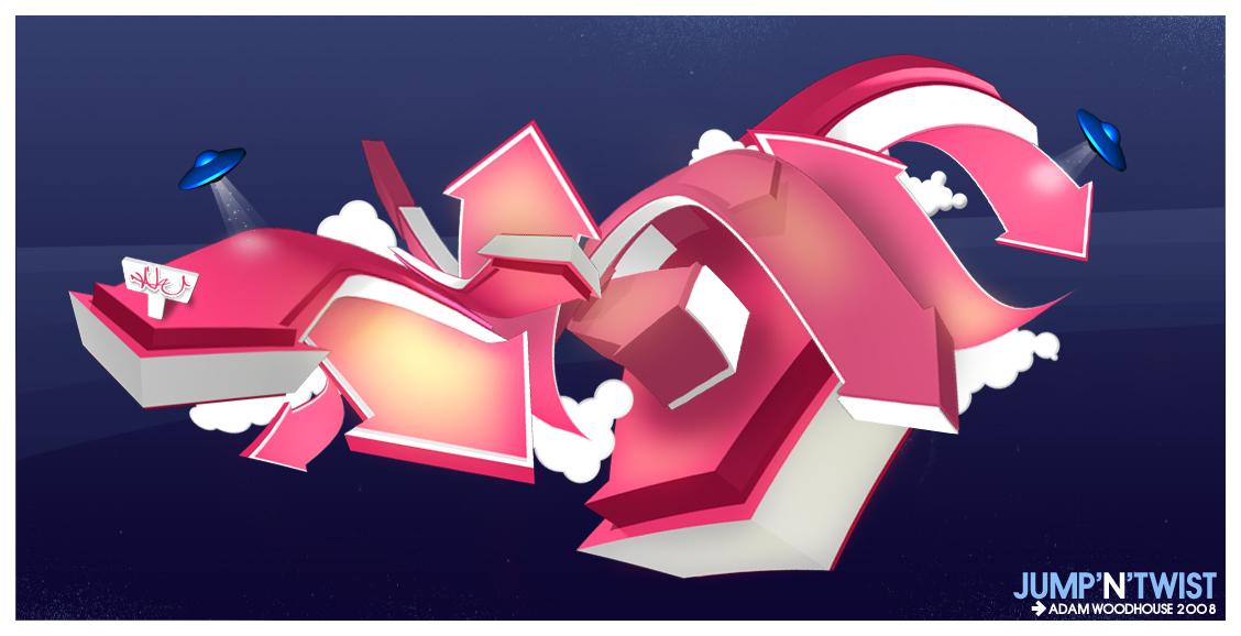 JUMP N TWIST 3D Graffiti By Ardcor On DeviantArt