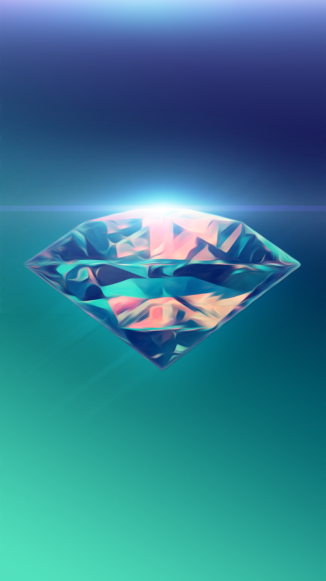 Diamond Abstract Phone Wallpaper By SilentPotatoGFX