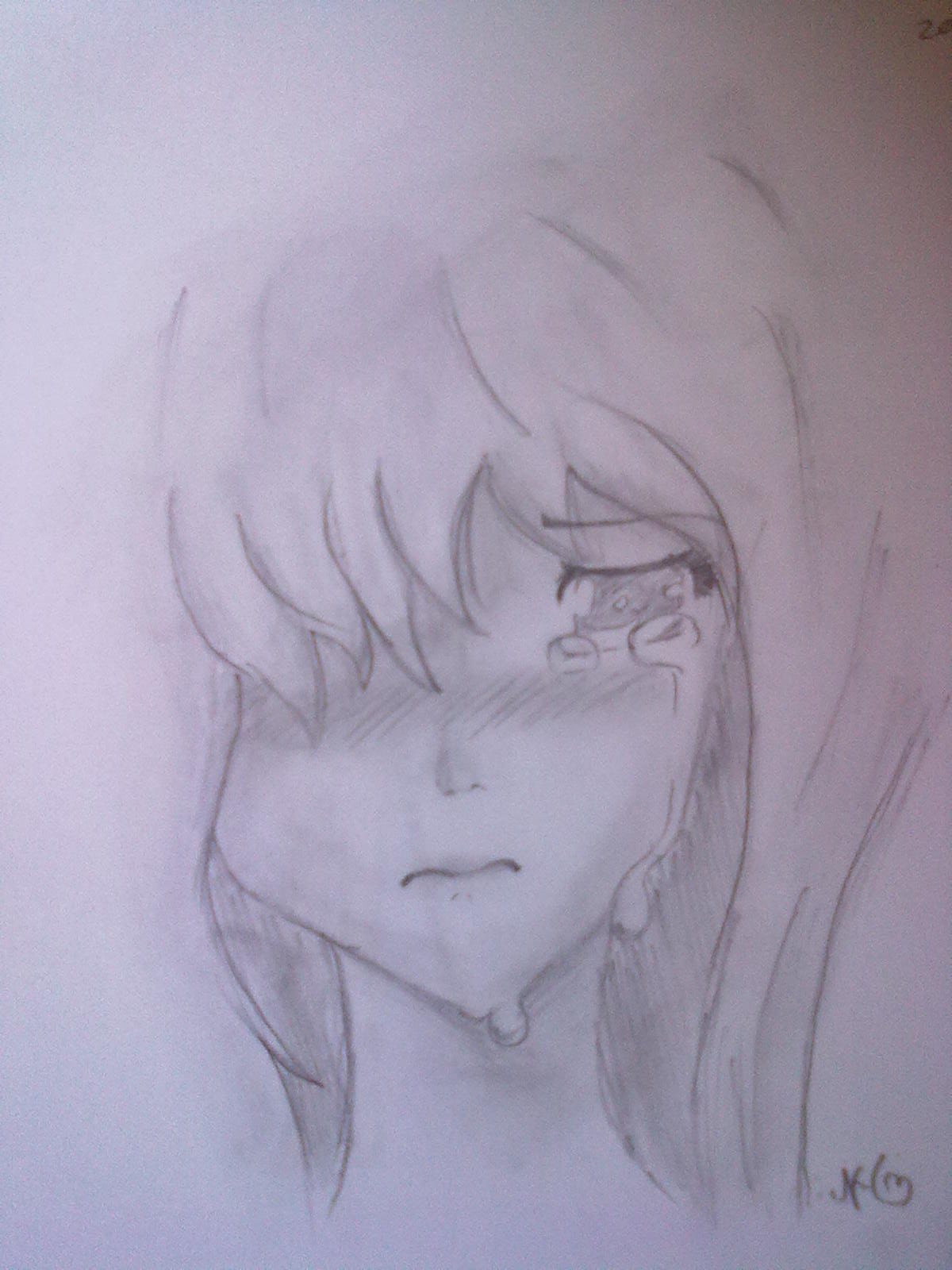 Crying anime girl. by AJCutiePie on DeviantArt