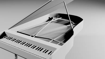 Piano with strings