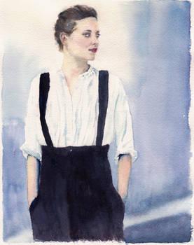 Marion Cotillard Watercolour