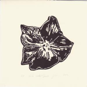 Black Wooden Flower