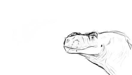 dinosaur head by SlippyTheSnake
