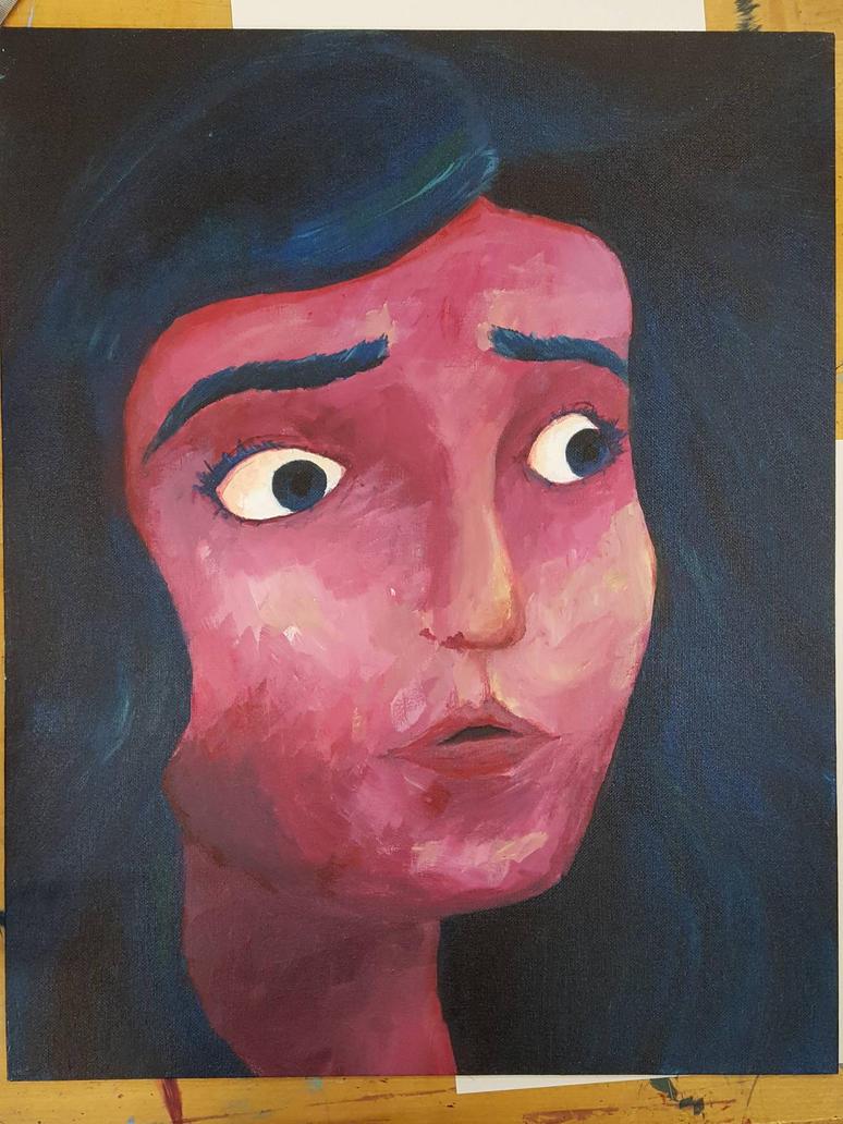 Girl Painting  by imjustamanatee