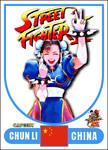 Chun Li - Street Fighter 2 Retro Card