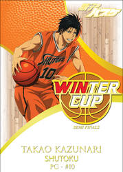 Takao Kazunari - Winter Cup Tournament - Base Card